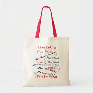 I Really Love Ya Mom Canvas Bags