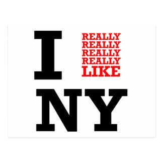 I Really Really Really Like NY Postcard