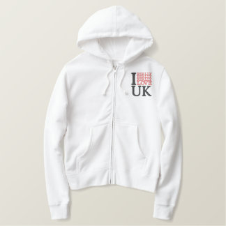 I Really Really Really Love UK Embroidered Hoodie