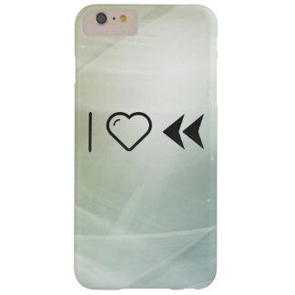 I rebobinados dobles del corazón funda de iPhone 6 plus barely there