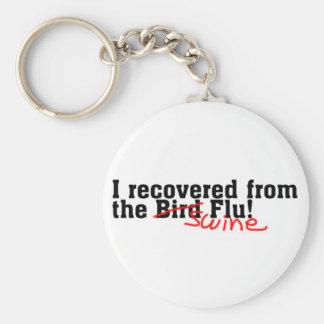 I Recovered from the Bird no Swine Flu Keychain