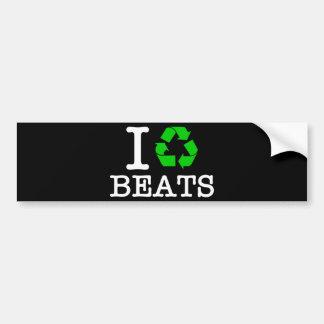 I Recycle Beats Bumper Sticker