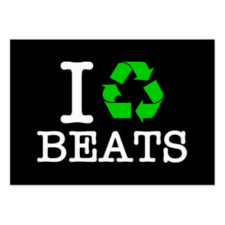 I Recycle Beats Business Card Template