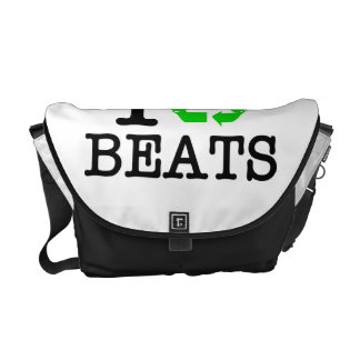 I Recycle Beats Courier Bag