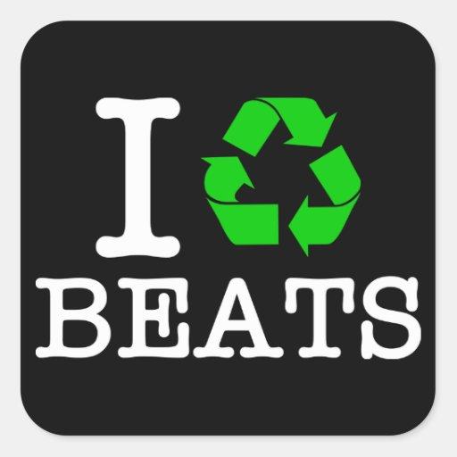 I Recycle Beats Sticker