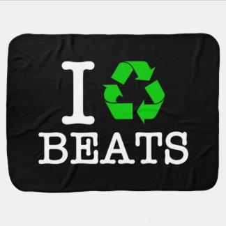 I Recycle Beats Stroller Blanket