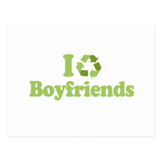 I recycle Boyfriends T-shirt Post Card