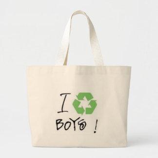 I Recycle Boys! (Just 4 Girls <3) Jumbo Tote Bag