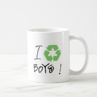 I Recycle Boys! (Just 4 Girls <3) Coffee Mugs