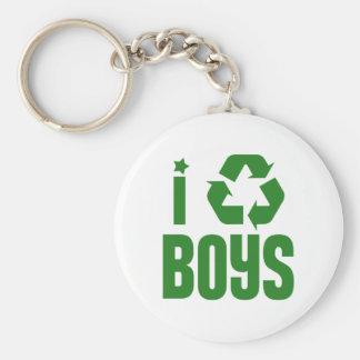 I Recycle Boys Key Chains