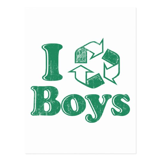 I Recycle Boys Postcard