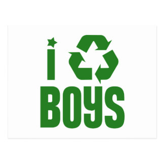 I Recycle Boys Postcard
