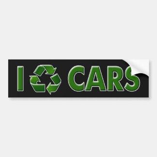 I Recycle Cars (Bumper Sticker) Car Bumper Sticker