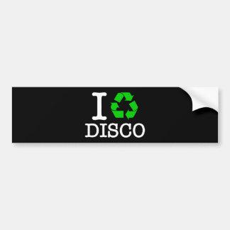 I Recycle Disco Bumper Sticker
