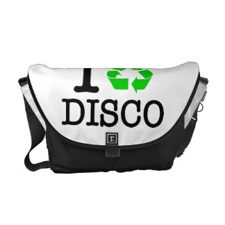I Recycle Disco Courier Bag