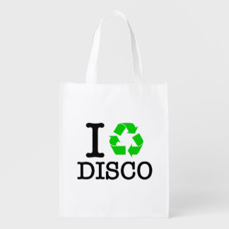 I Recycle Disco Grocery Bag