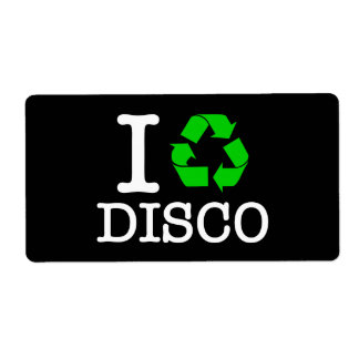 I Recycle Disco Personalized Shipping Label