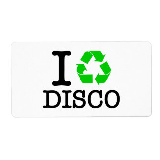 I Recycle Disco Custom Shipping Labels