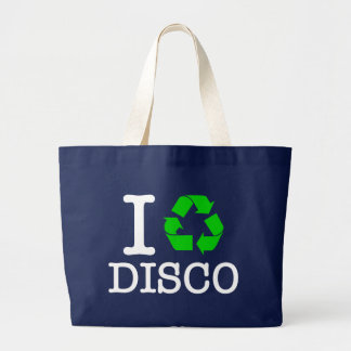I Recycle Disco Large Tote Bag