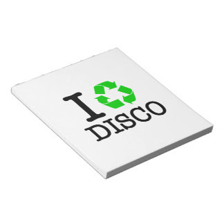 I Recycle Disco Note Pads