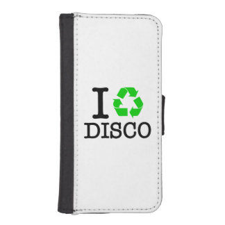 I Recycle Disco Phone Wallet Cases