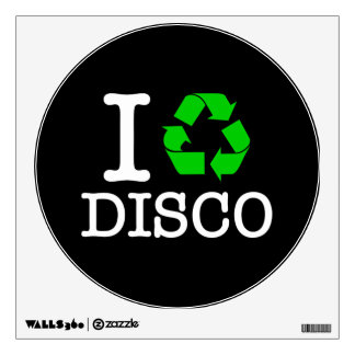 I Recycle Disco Wall Sticker