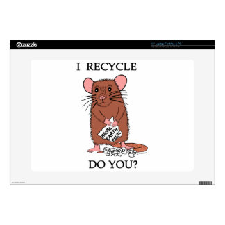 """I Recycle, Do You? 15"""" Laptop Decals"""