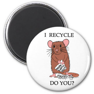 I Recycle, Do You? 2 Inch Round Magnet