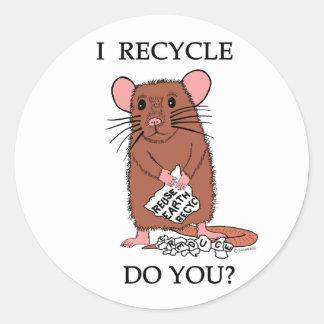 I Recycle, Do You? Classic Round Sticker