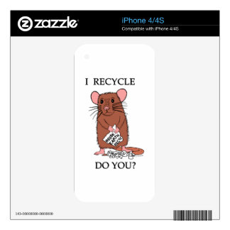 I Recycle, Do You? iPhone 4S Skin