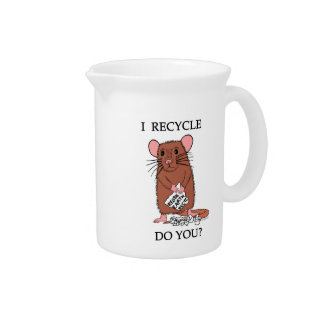 I Recycle, Do You? Beverage Pitchers
