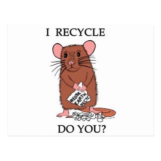 I Recycle, Do You? Postcard