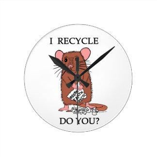I Recycle, Do You? Round Wallclocks