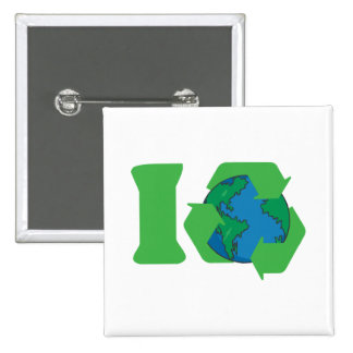 I Recycle Earth Day Pins