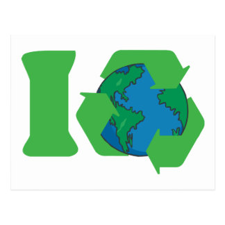 I Recycle Earth Day Post Card