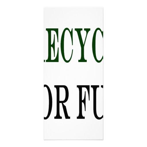 I Recycle For Fun Custom Rack Card