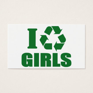 I Recycle Girls Business Card