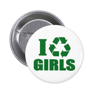 I Recycle Girls 2 Inch Round Button