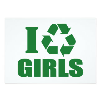 I Recycle Girls Gifts on Zazzle