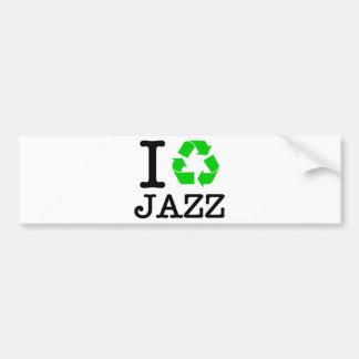 I Recycle Jazz Car Bumper Sticker