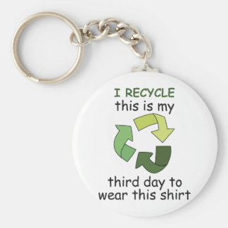 I RECYCLE KEYCHAINS