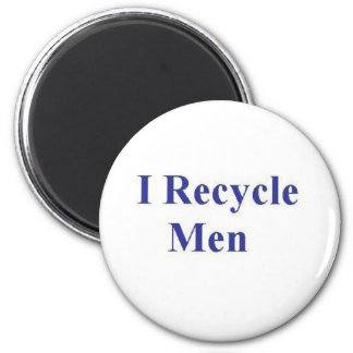 I RECYCLE MEN 2 INCH ROUND MAGNET