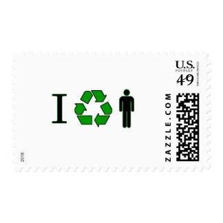 I recycle men postage