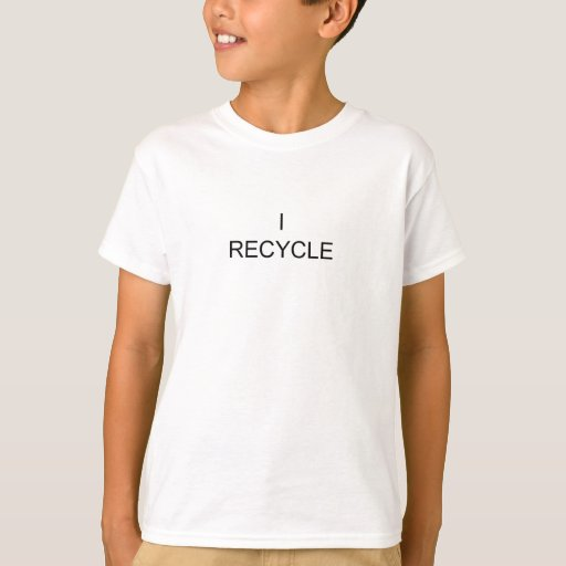 I Recycle small black text T-Shirt