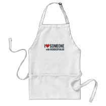 I Red Heart Someone With Hydrocephalus Adult Apron