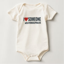 I Red Heart Someone With Hydrocephalus Baby Bodysuit
