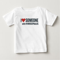 I Red Heart Someone With Hydrocephalus Baby T-Shirt