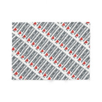 I Red Heart Someone With Hydrocephalus Fleece Blanket