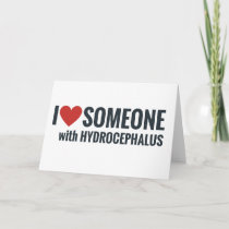 I Red Heart Someone With Hydrocephalus Holiday Card