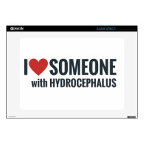 """I Red Heart Someone With Hydrocephalus Skin For 15"""" Laptop"""